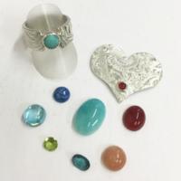 echte Steine und Süsswasserperle